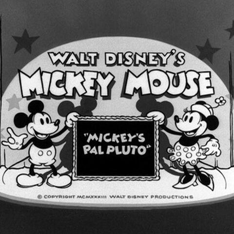 Le <i>title card</i> de <i>Mickey's Pal Pluto</i>.