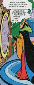 La reine devant son miroir magique