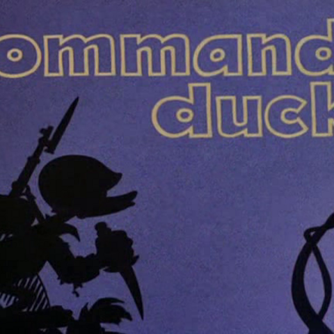 <i>Title card</i> de <i>Commando Duck</i>.