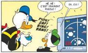 Donald prend goût au jeu vidéo de ses neveux
