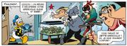 Donald ramène la grenouille bleue à l'animalerie de Pauline
