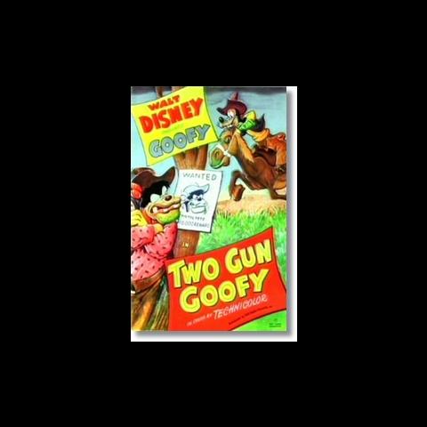 L'affiche de <i>Two Gun Goofy</i>.