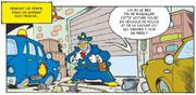 Le chef des faussaires se déguise en policier