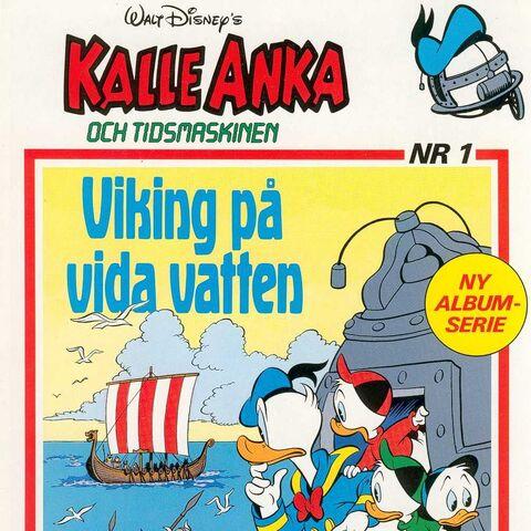 Couverture du magazine suédois <i>Kalle Anka och tidsmaskinen</i> n°1 par <a class=