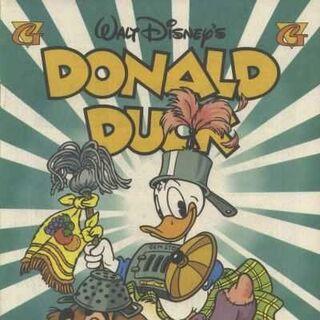 Couverture réalisée par Russell Schroeder publiée dans le <i>Donald Duck</i> n°298 en juillet 1996 et illustrant l'histoire.