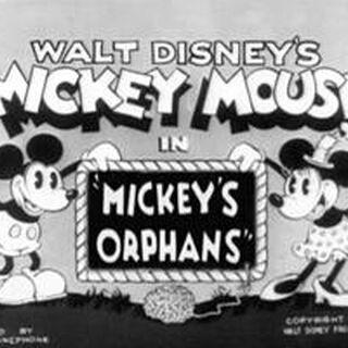 Le <i>title card</i> de <i>Mickey's Orphans</i>.