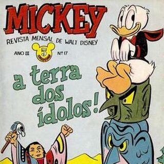 Couverture de la revue brésilienne <i>Mickey</i> n°17 illustrant l'histoire.