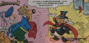 Pour la première fois, Picsou endosse son costume de Picsoumiald!