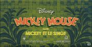 Title card Mickey et le singe