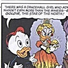 Une souris impressionnée par Goldie