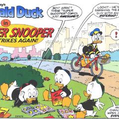 Riri, Fifi et Loulou Duck dessinés par <a href=