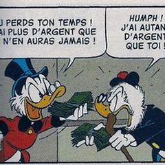Picsou et Gripsou dessinés en 1980.