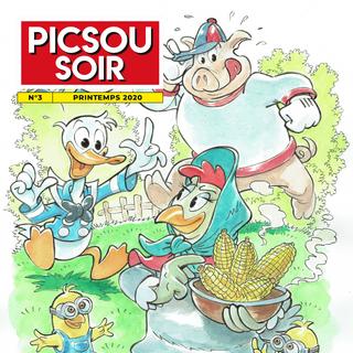 Le n°3 de <i>Picsou Soir</i> datant du printemps 2020.