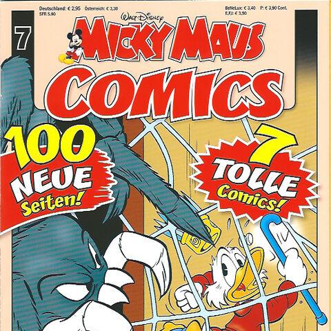 Couverture de la revue allemande <i>Micky Maus Comics</i> n°7 du 3 juillet 2012 illustrant ce récit.