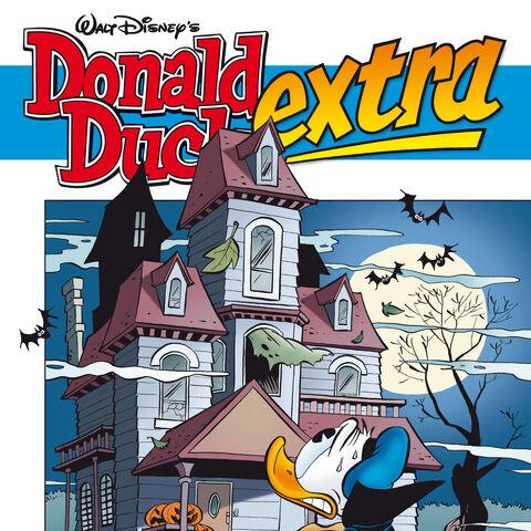 Couverture de la revue néerlandaise <i>Donald Duck Extra</i> n°2008-10 du 16 septembre 2008 illustrant cette histoire. Elle est dessinée par Gerben Valkema