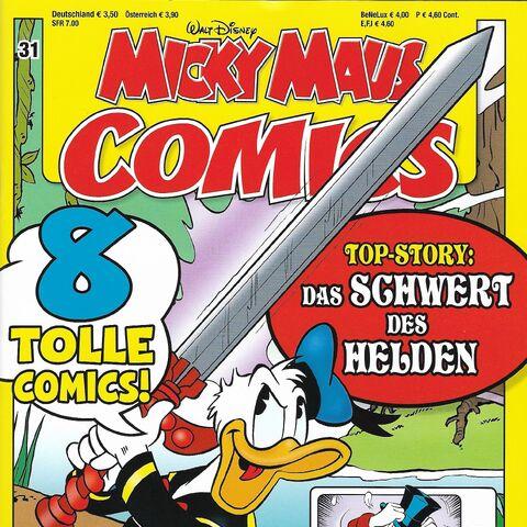Couverture de la revue allemande <i>Micky Maus Comics</i> n°31 du 5 juillet 2016 illustrant ce récit.