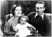 Walt, Lillian et Diane Disney