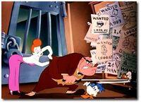 Donald avec Pauline et l'inspecteur
