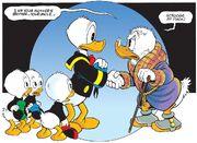 Retrouvailles entre Donald Duck et Balthazar Picsou Le Reclus du Manoir McPicsou