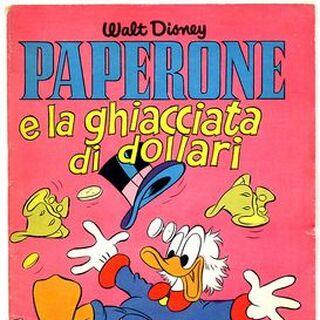 Couverture du magazine italien <i>Albi della rosa / Albi di Topolino</i> n°271 illustrant l'histoire et réutilisant une case de <a href=