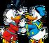 Picsou et Donald qui se serrent la main