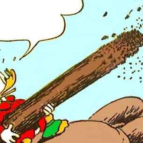 Picsou faisant face à des termites.
