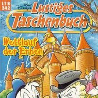 Couverture dessinée par Josep Tello Gonzales pour illustrer la parution de cette histoires en Allemagne dans <i>Lustiges Taschenbuch</i> n°242 en janvier 1998.