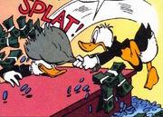 Donald frappant Picsou