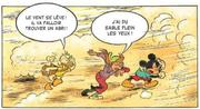 Donald, Meg et Mickey pris dans une tempête de sable