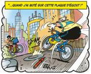 Commissaire Finot perd sa pompe à vélo