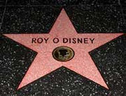 Roy Disney étoile