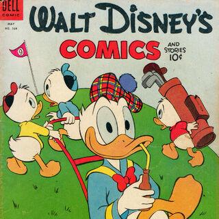 Couverture du <i>comic book Walt Disney's Comics and Stories</i> n°164 dessinée par Carl Barks, où est parue pour la première fois l'histoire.