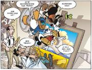 Mickey Donald Dingo tombent dans le tableau de Dali