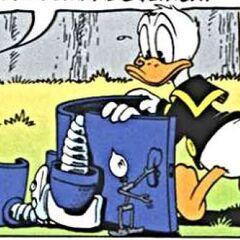 Filament tenant la porte de l'armure à Donald