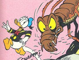 Donald poursuivi par un groak