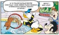 Donald s'agace de la présence de la loutre