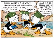 Riri Fifi et Loulou retrouvent le béret de leur oncle Donald et imaginent le pire