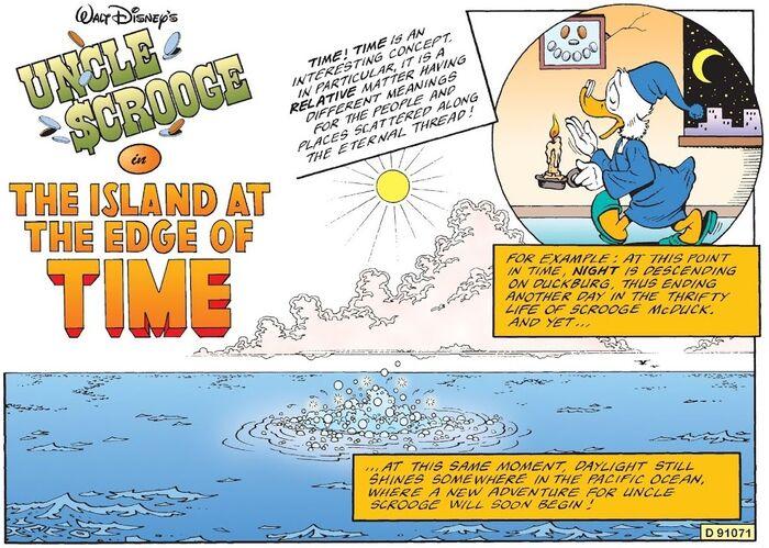 L'île du bout du temps bandeau