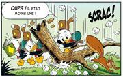 Riri, Fifi et Loulou Duck échappent à la chute d'une branche