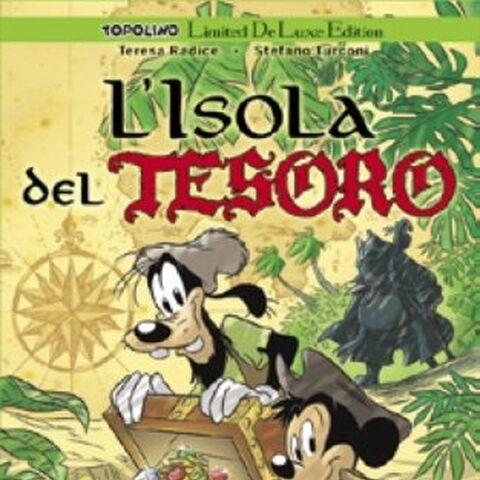 Couverture de la revue italienne <i>Topolino Limited Deluxe Edition</i> n°6 du 11 mars 2016 illustrant ce récit. Elle est dessinée par Stefano Turconi.