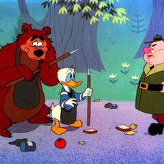 Nicodème et Donald face au garde forestier <a href=