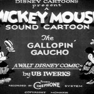 Le <i>title card</i> de <i>The Gallopin' Gaucho</i>.