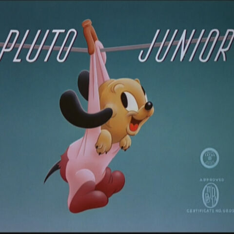 Le <i>title card</i> de <i>Pluto Junior</i>.