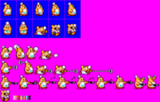 Chef Kawasaki (Kirby Super Star - Sprite Sheets - Hitbox)