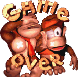 DKC (GBA) - Game Over screen