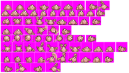 Golem - Kirby and Amazing Mirror - Sprite Sheets