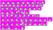 Golem (Fighter) - Kirby and Amazing Mirror - Sprite Sheets
