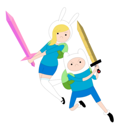 457px-Adventure time fionna n finn by janelvalle-d47ki4r