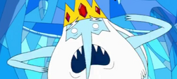 Ice King not wearing a tunic, looking weird