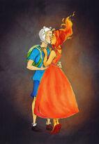 1 finn and flame princess by drakonarinka-d5bedgj